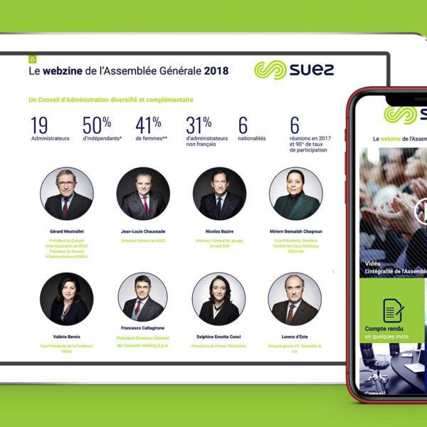 Agence web paris, présentation du conseil d'administration de Suez dans le Webzine digital