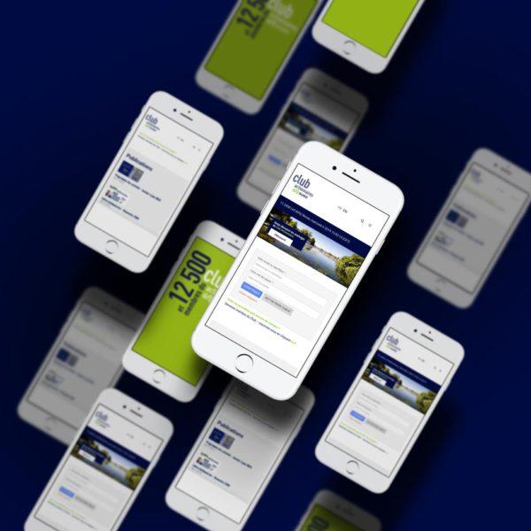 Superbe montage de type mockup du site web Suez club actionnaire