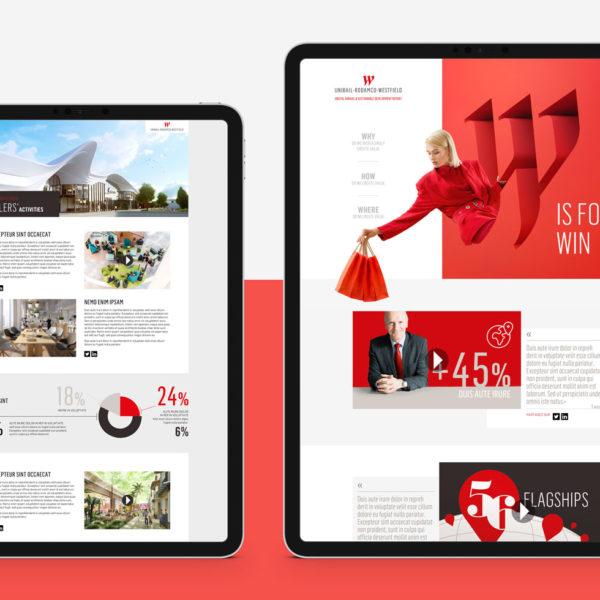 Unibail-Rodamco-Westfield, création du site web corporate